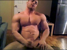 Hot Bodybuilder - check out those big muscles - cumshot 0745 10