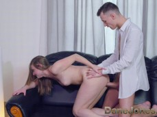She's enjoyed by his big cock