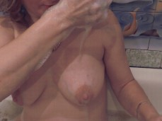 soap suds lather in tits suds tits