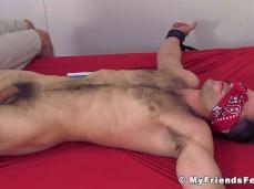 tied underwear slide off -fat cock