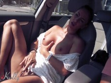 Amateur public car masturbation