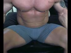 Straight Bodybuilder on cam 0110 3