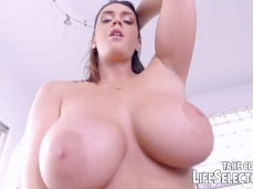 Alison Tyler and her huge tits bouncing on your cock